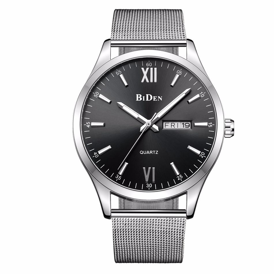 Prix pour 2016 Relojes Hombre Top Marque De Luxe Hommes Montres Hommes Montre À Quartz D'affaires Hommes Date Étanche Or Horloge Homme Relogio Masculino