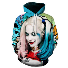 2019 Fashion Hoodies 3D Men Women Sweatshirts Fashion Pullover Autumn Tracksuits Harajuku Outwear Harley Quinn Male  Streetwear