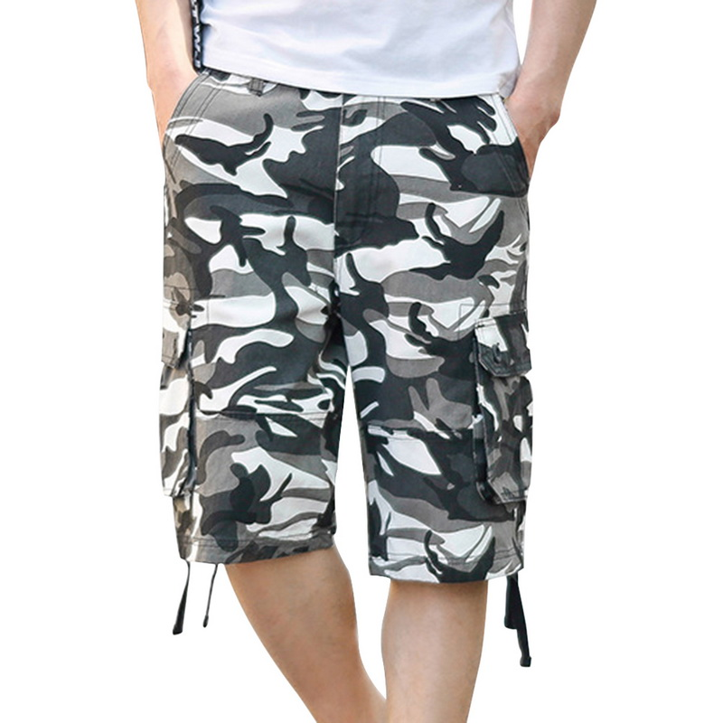 Laamei Camouflage Cargo Shorts Mens 2018 Summer Fashion Casual Shorts Male Loose Work Shorts Military Short Pants Plus Size 44