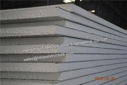Material de construção Do Telhado Painel De Sanduíche Do PLUTÔNIO e Eps Painel de Sanduíche de 50mm * 1 m