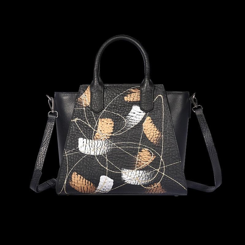 abstract luxury designer 2018 modis women bag genuine leather bag bolsa feminina handbag shoulder clutch genuine leather handbag 2018 new shengdilu brand intellectual beauty women shoulder messenger bag bolsa feminina free shipping