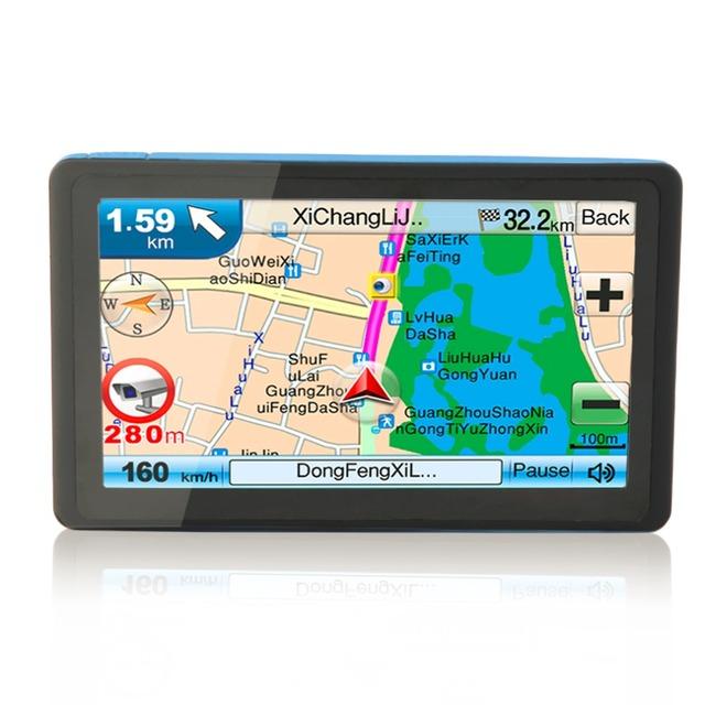 De alta Calidad de NUEVA Negro TFT Lcd Nueva 7 Pulgadas de Coches de Navegación GPS SAT NAV 8 GB Bluetooth Navegador con sombrilla
