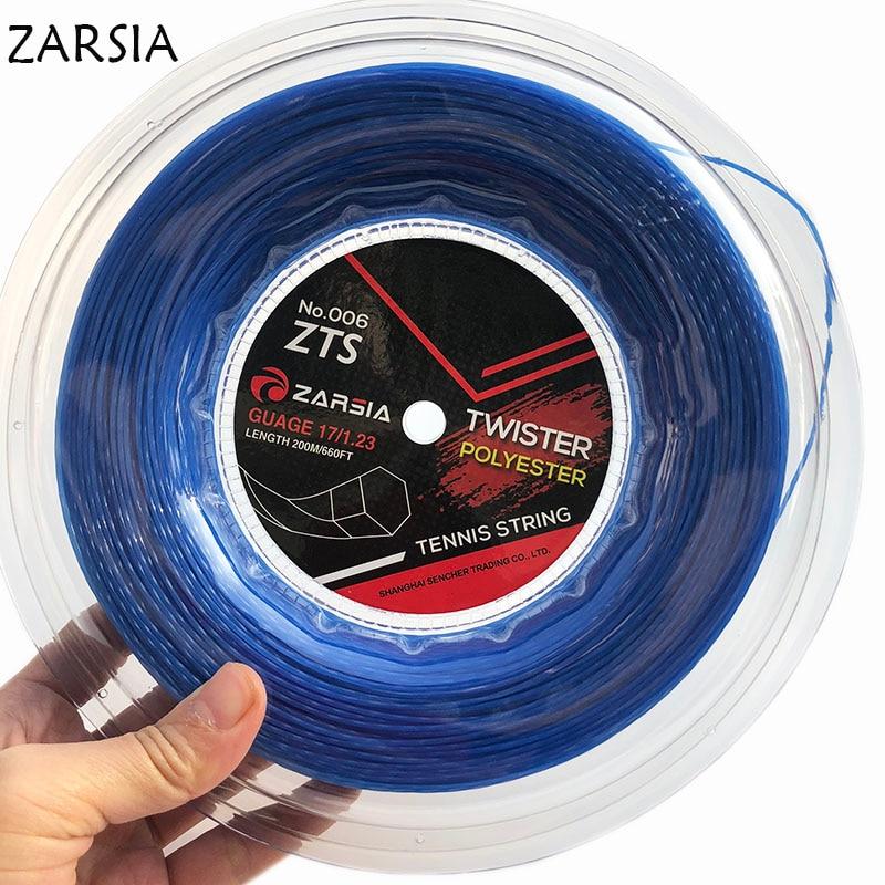 1 Reel Blue Genuine NEW ZARSIA Black Twist tennis String Reel tennis string made in taiwan