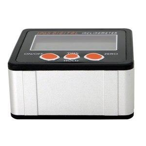 Image 3 - Nuovo alluminio racchiude goniometro elettronico inclinometro scatola smussata angolo livello magnete allinterno angolo inclinometro digitale