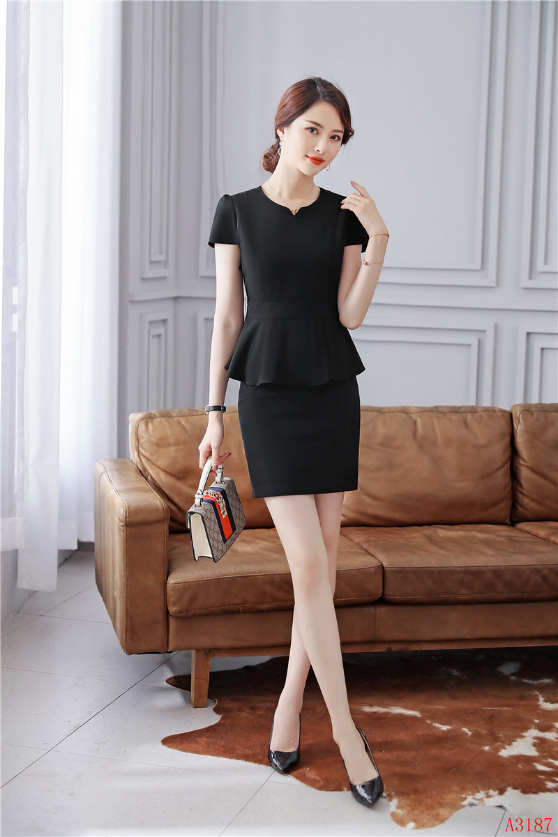 Summer Women Business Suits with Skirt and Jacket Sets Ladies Work Wear Clothes Office Uniforms Style
