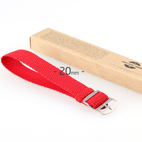 Hot Handcraft Nylon Fabric Wrist Watch Band Strap 20mm 7Color Korean Fashion Brand