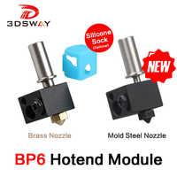 3DSWAY 3D Printer Parts BP6 Hotend Module J-head Extruder V6 Low Temperature High Temp Throat Heating Block Nozzle Kits 0.4/1.75