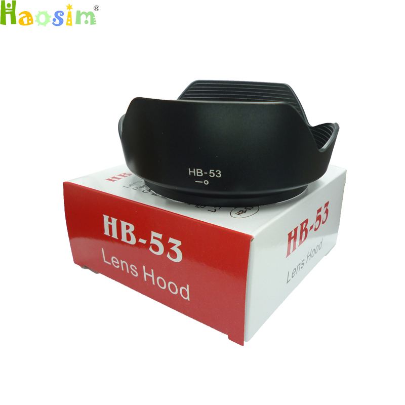 10pcs/lot Hb-53 Hb53 Bayonet Mount Camera Lens Hood For Nikon Af-s Nikkor 24-120mm F/4g Ed Vr With Package Box Selected Material