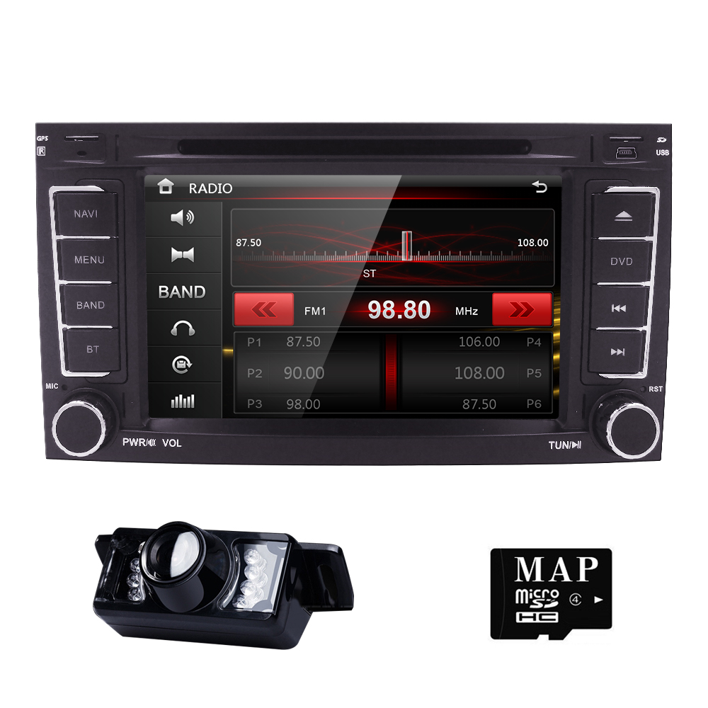 WINCE6 0 Car Monitor DVD GPS Navigation Player Car Stereo for VW TOUAREG 2004 2011 Radio