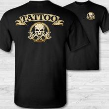 2019 Funny Tattoo Artist Crossbones T-Shirt Tattooing Skull Tee Shirt Tattooer Badge Double Side Unisex