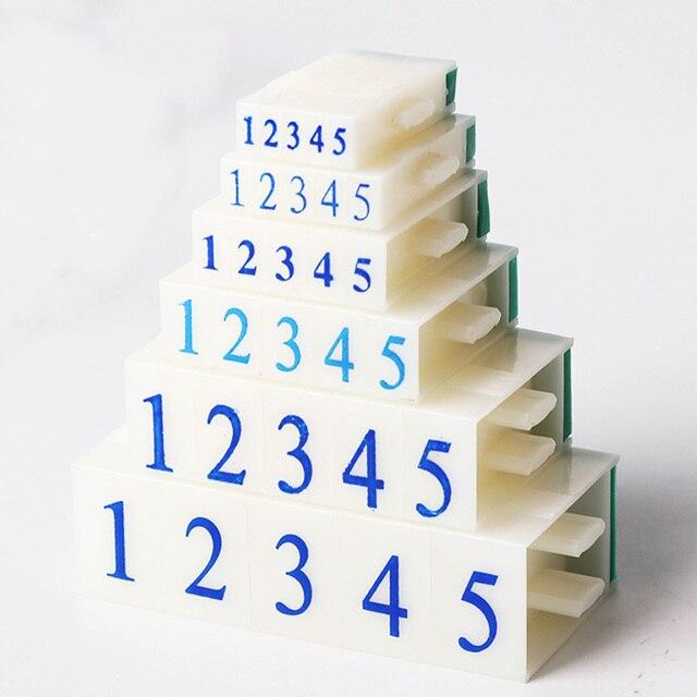 0-9 números de plástico suministros de Scrapbooking de identificación de sello de goma sello combinación ajustable Asamblea DIY manualidades