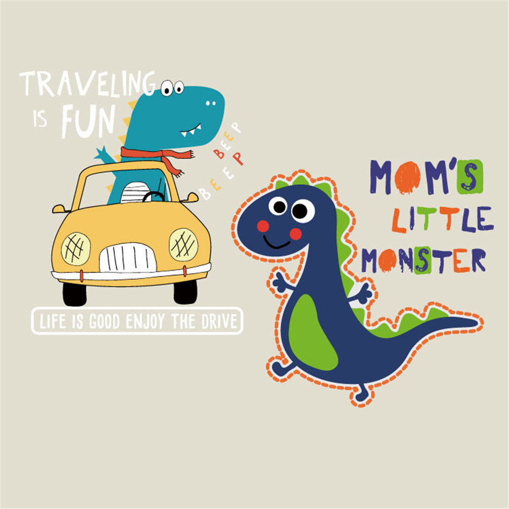 Creatief Pvc Auto Tractor Dinosaurus Patch Diy Handgemaakte Decoratie Applicaties Voor Jeans Jassen T-shirts Printable Warmteoverdracht Vinyl Talrijke In Verscheidenheid
