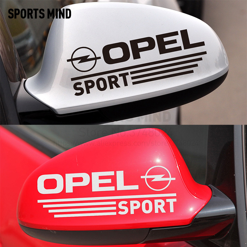 все цены на 1 Pair SPORT Rearview Mirror Car Stickers Decal Car-Styling For Opel astra h corsa zafira insignia vectra b antara accessories