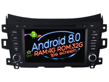 Pantalla IPS Android 8.0 del coche DVD Navi para Nissan Navara/NP300/Alaska GPS Suto audio estéreo multimedia