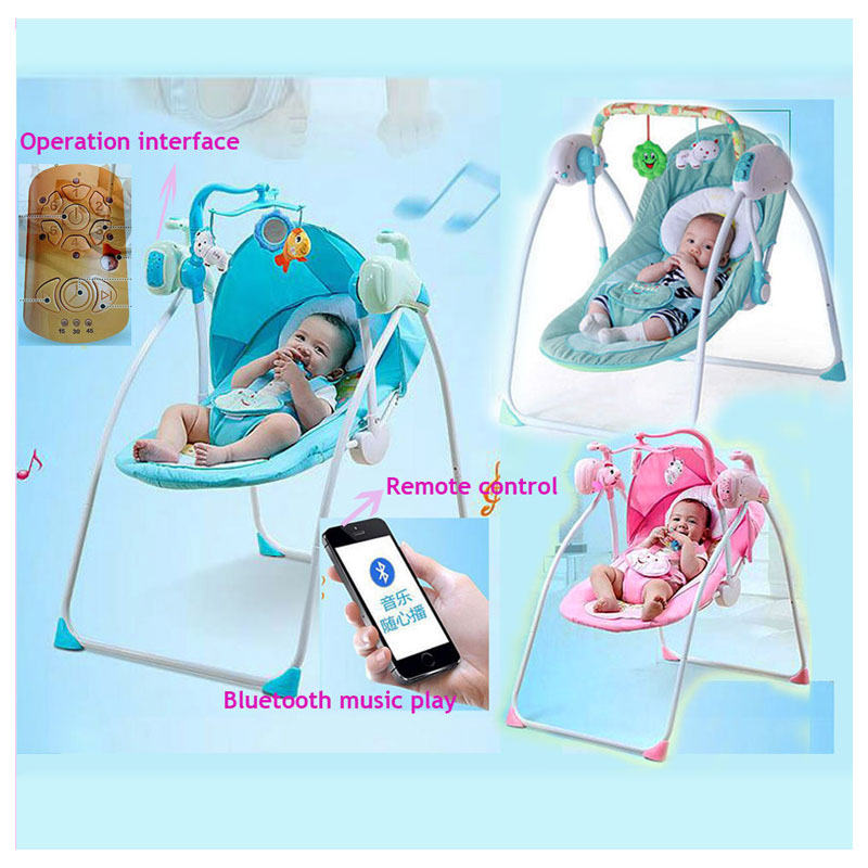 RC Bluetooth Newborn Baby Swing Bed Electric Rocker Chair Infant Baby Rocking Chair Crib Bouncer Baby Swing Chair Lounge Cradle laptop 11 6 touch led screen assembly for dell inspiron 11 3000 3147 lcd lp116wh6 spa2