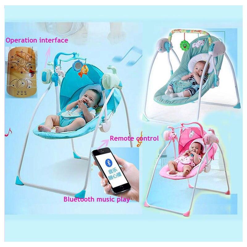RC Bluetooth nouveau-né bébé balançoire lit électrique chaise à bascule infantile bébé chaise à bascule berceau videur bébé balançoire chaise salon berceau