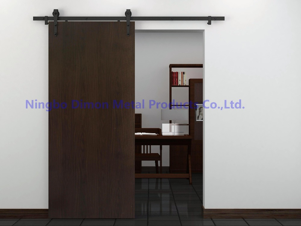 Купить с кэшбэком Free shipping Dimon hot sell arrow cheap America style wooden sliding barn door hardware DM-SDU 7204 without sliding track