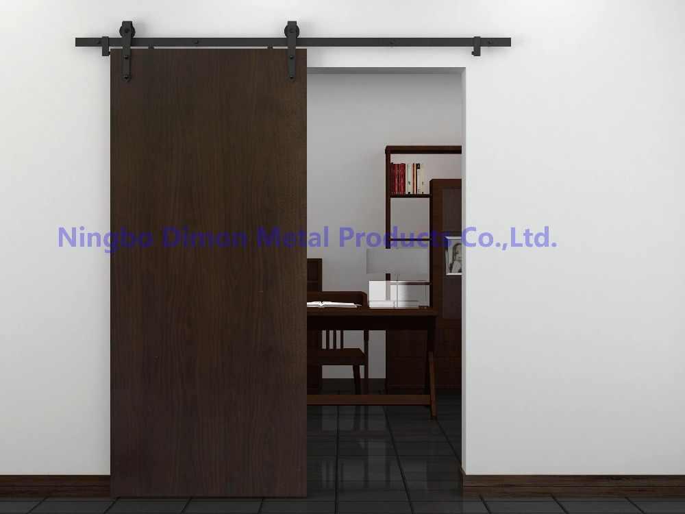 Бесплатная доставка Dimon Горячая продажа стрела Дешевые Америка стиль деревянные раздвижные двери сарая оборудование DM-SDU 7204 без скользящая направляющая