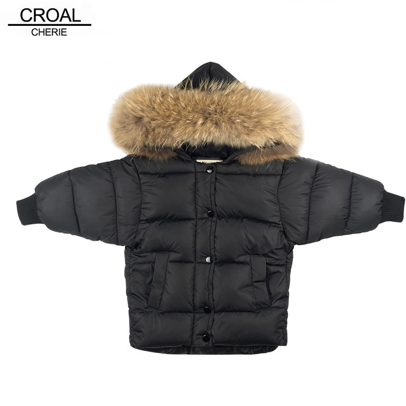 CROAL CHERIE Real Fur Outerwear & Coats Winter Jacket For Girls Boys Children Winter Clothing Outerwear Coat Toddler Clothes children clothing winter outerwear