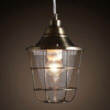 Старинные ретро железа чердак клетки ( серебро / бронза ) эдисон Droplight потолочный светильник кафе бар клуб кафе зал проход