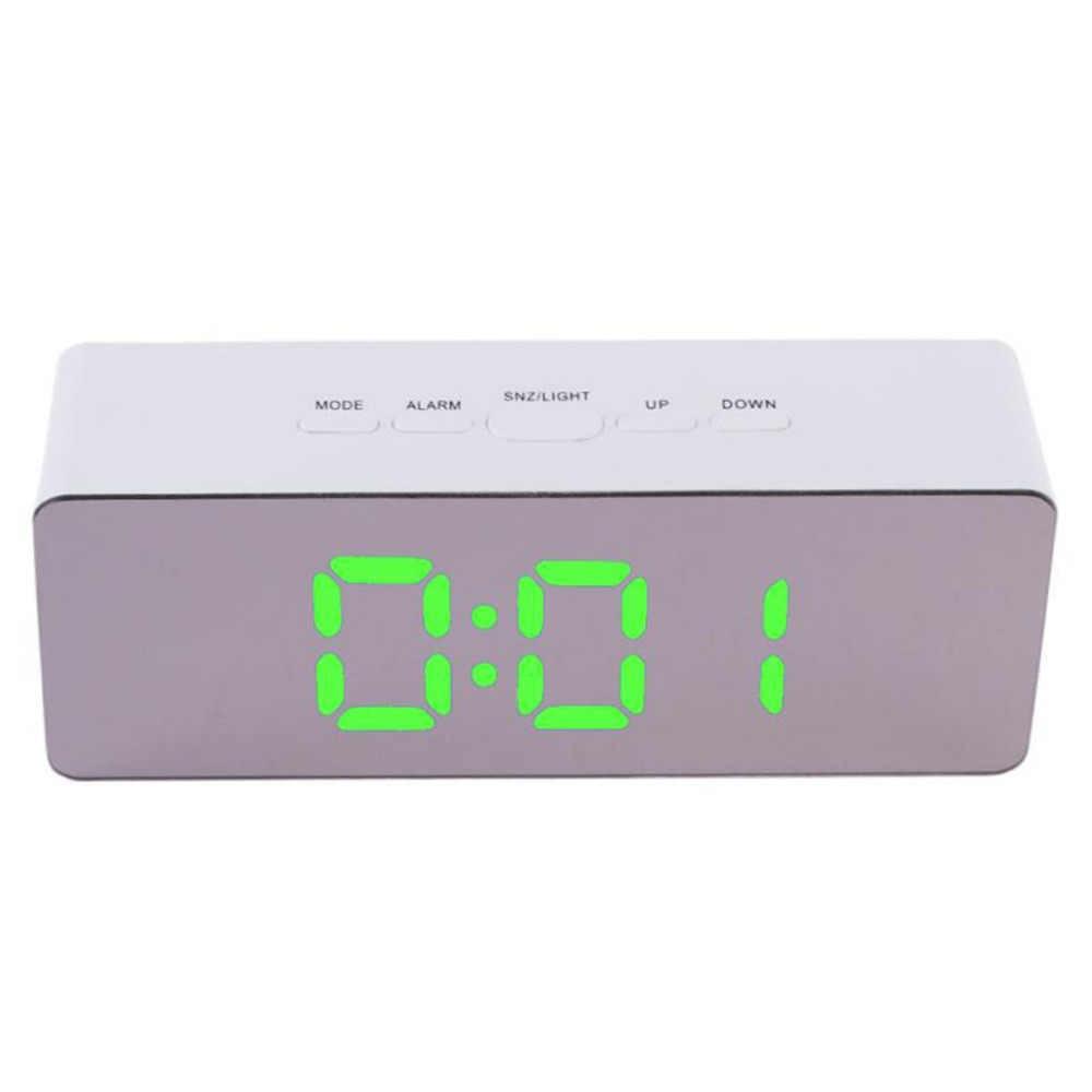 100% Бренд новый Высокое качество Многофункциональный цифровой светодиодный зеркальный будильник ночные светильники термометр Прямая доставка