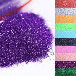 Image 3 - 1 Bag 20/5g  Nail Powder Laser Shimmer Glitter Sequins Chrome Pigment Dust ail Art Decorations