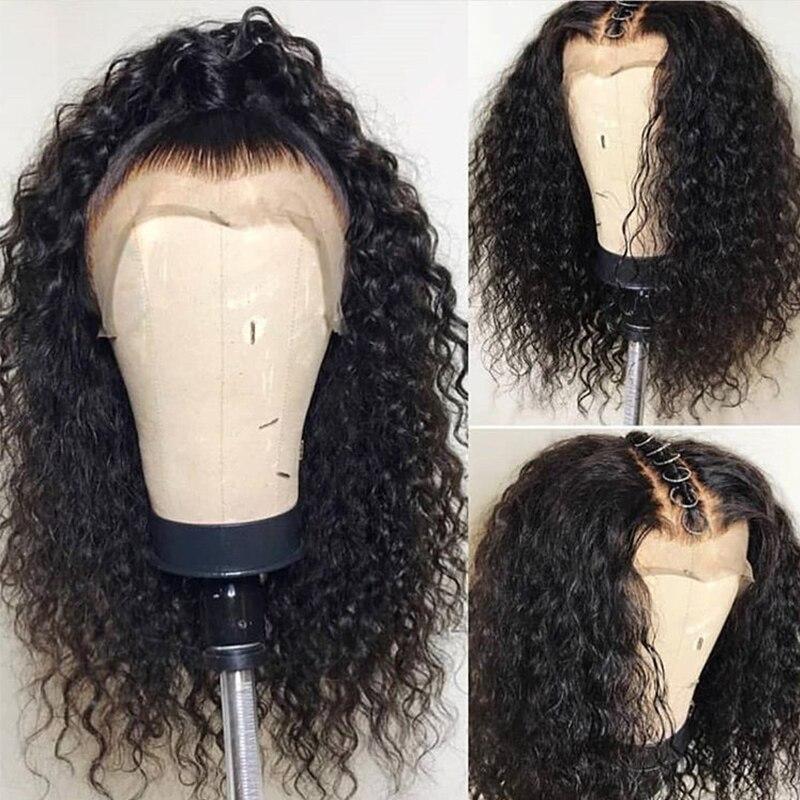 360 nėrinių priekinės perukas iš anksto supakuotas su kūdikių - Žmogaus plaukai (juodai) - Nuotrauka 3