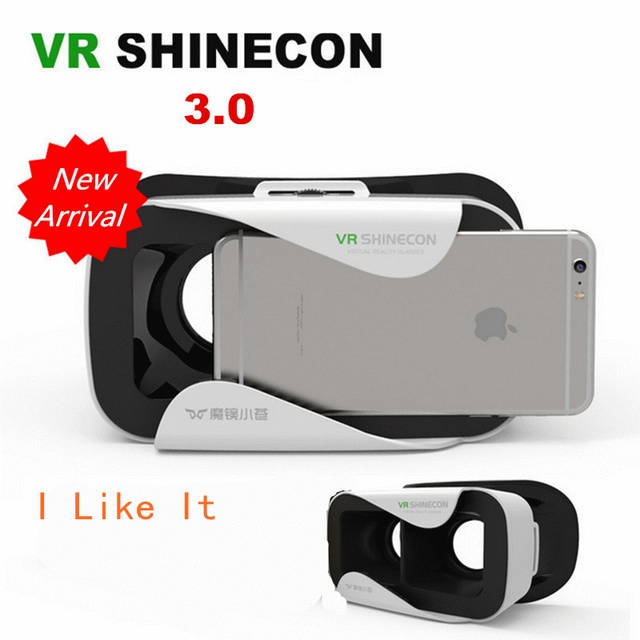 a05dedbe4947 2017 VR SHINECON 3.0 3D Headset Google Glass virtual reality 360 cardboard  Glasses Head Mount vr box Helmet for 4.5-6  Phone