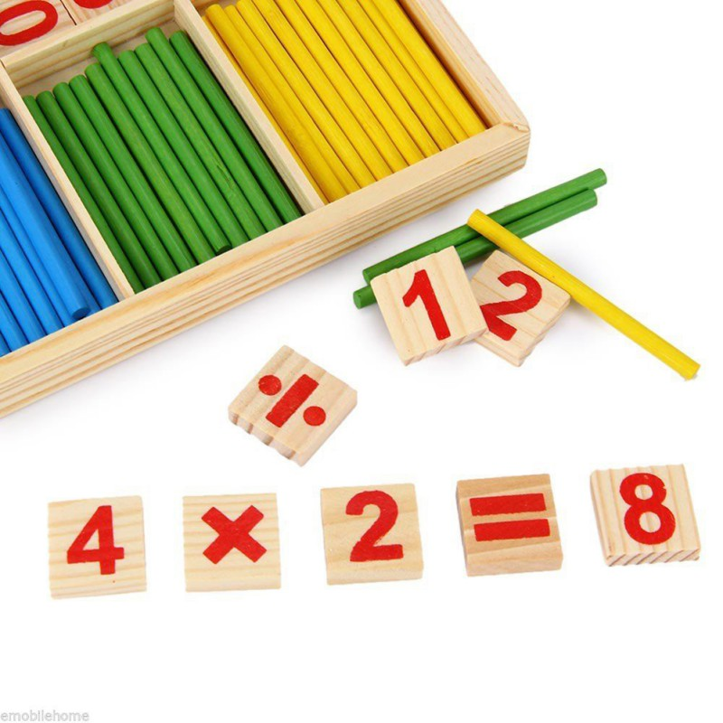Toys & Hobbies Baby Toys Mathematical Intelligence Stick Preschool Educational Wooden Digital Symbols Children Toys 2019 Beautiful And Charming Puzzles & Games