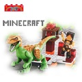 My world Minecraft  Dinosaur Figures Jurassic Park figures Bricks Models & Building Blocks Toys for Children
