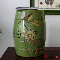 Chinese Flower And Bird Design Ceramic Stool Seat Furniture For Indoor
