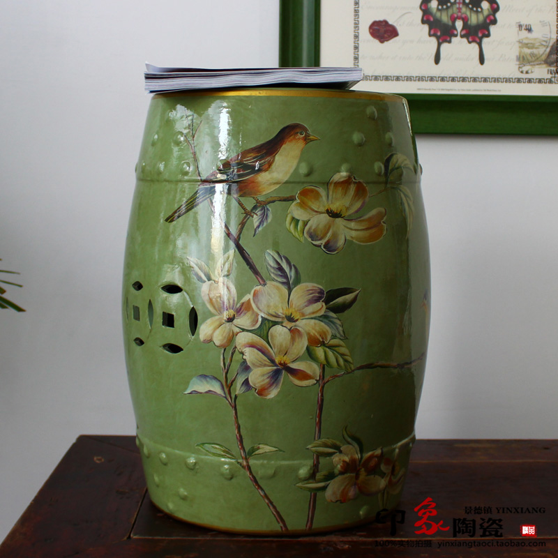 все цены на Chinese Flower and Bird Design Ceramic Stool Seat Furniture For Indoor онлайн
