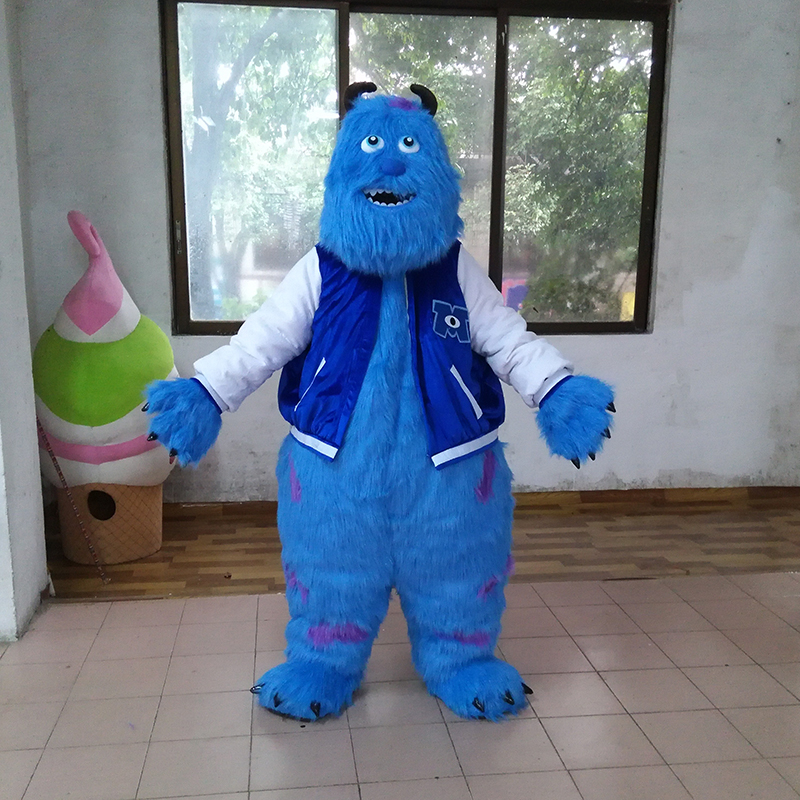 Good ventilation monster Sully mascot costume adult Sully mascot costume for Halloween party costumes