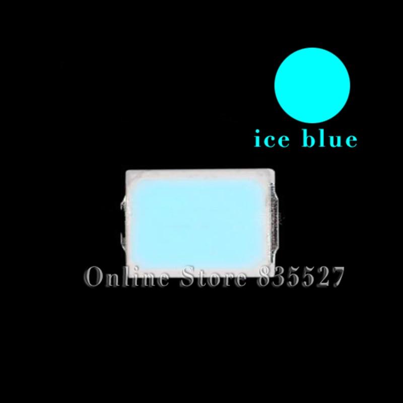 100pcs/lot LED Lamp Beads Ice Blue SMD 2835 0.2W Super Highlight Light-emitting Diode