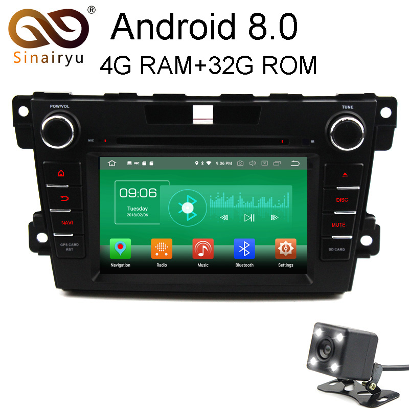 4 г Оперативная память Android 8.0 автомобильный DVD для Mazda CX7 2010 2011 2012 2013 2014 2015 CX 7 Octa core 32 г Встроенная память Радио GPS плеер головное устройство