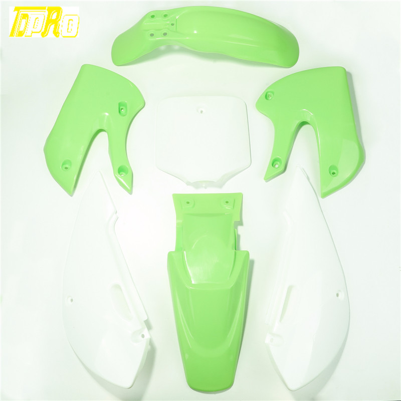 New Style Motorcycle Enduro Plastic Full Set Cover Fender Fairing For Racing Kawasaki KLX 110 DRZ 110 KX 65 Accessories Moto