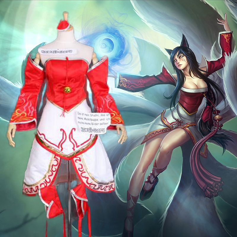 New Arrival The Nine-Tailed Fox Cosplay Costumes Dress LOL Ahri Costume Custom-Made lacywear s 58 gmr