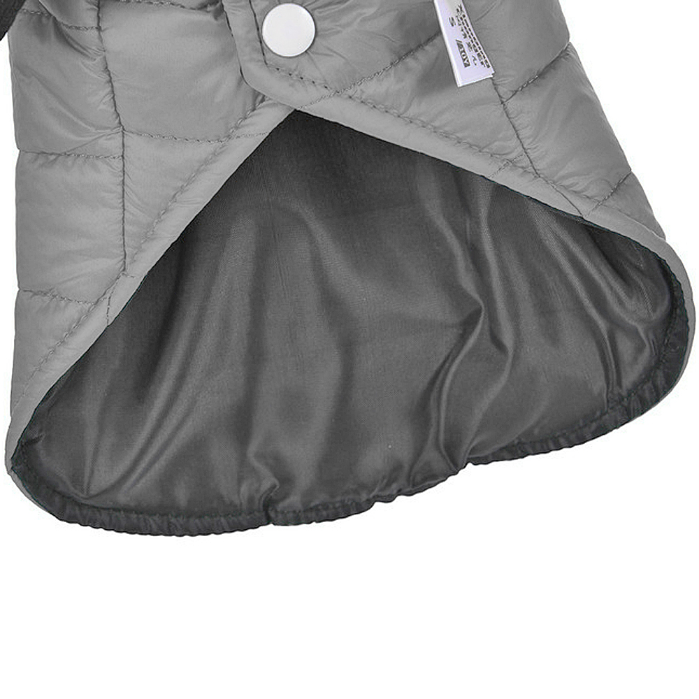 Warm Dog Jacket with Hoodie Made of Soft Polyester to Protect Dogs from Cold 3