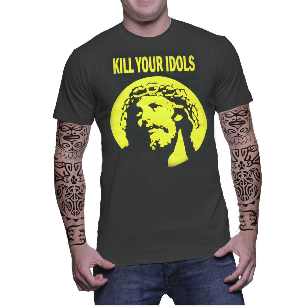 Kill Your Idols Vintage Retro Graphic Axl Rose Guns N Roses Punk Rock T-Shirt