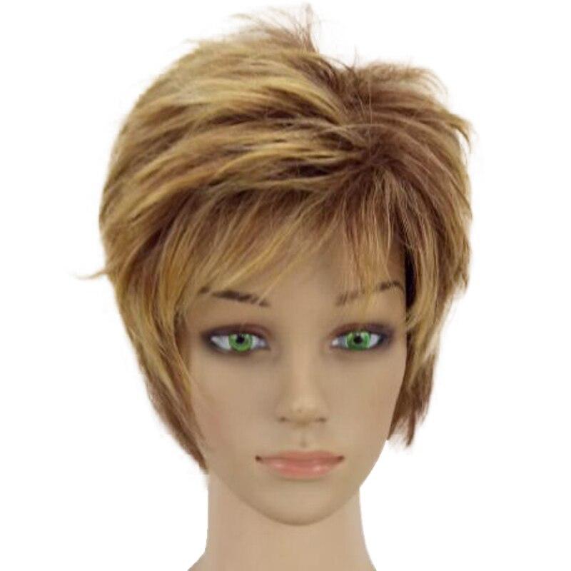 HAIRJOY Γυναίκα Ξανθιά Μικτή Σύντομη - Συνθετικά μαλλιά - Φωτογραφία 4