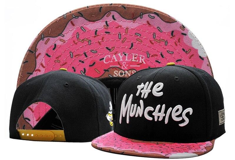 06956facb8d55 Fashion Brand C S MUNCHIES CAP Pink girl baseball cap snapback hat sports  hip hop adult sun active cap for men women