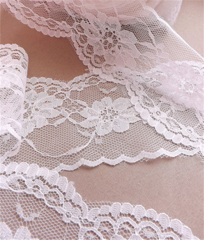 Width 65mm Beautiful 10 yards Embroidered Net Lace Trim fabric Garment ribbon 4 colors headband wedding