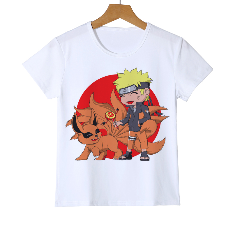 Sasuke Ninjia Naruto Kid Cartoon T-Shirt Anime Akatsuki Uchiha Itachi Sharingan Shirt Child Gift Boy Girl Baby T Shirt Tee Z38-2