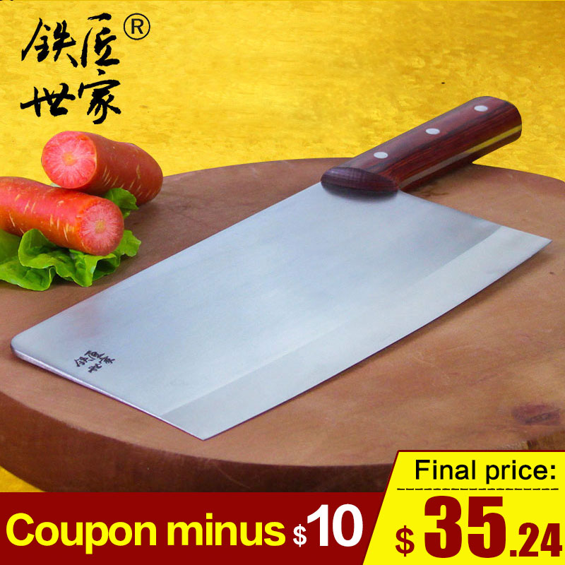 Cleaver slicing knife professional chef knives handmade forged stainless steel kitchen vegetable meat ножик