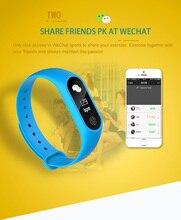 M2 плюс Смарт сердечного ритма крови Давление монитор Браслет Шагомер Спорт наручные часы вызова/SMS напоминание для IOS Android