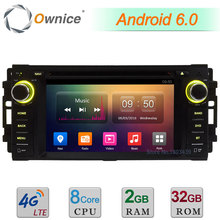 4G Android 6 Octa Core 2 GB + 32 GB de Radio DVD Del Coche Para Dodge RAM 1500 2500 3500 Pickup Trucks Avenger Calibre Challenger Dakota Dura