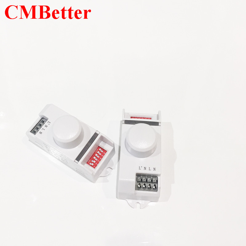 CMBetter New Arrival AC220 5.8GHz 360 Degree Time Setting Microwave Sensor Radar Body Sensor Motion HF Detector Light Switch freeshipping 5 8ghz hf systerm led microwave 360 degree radar sensor light switch ceiling light occupancy body motion detector
