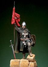 resin assembly Kits 1 32 54mm St John Order Knight with flag first half XIII 54mm