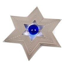 12 дюймов ветер spinner 5 звезд со стеклянным шариком изготовлен из 1 мм нержавеющая сталь лист с высоким качеством