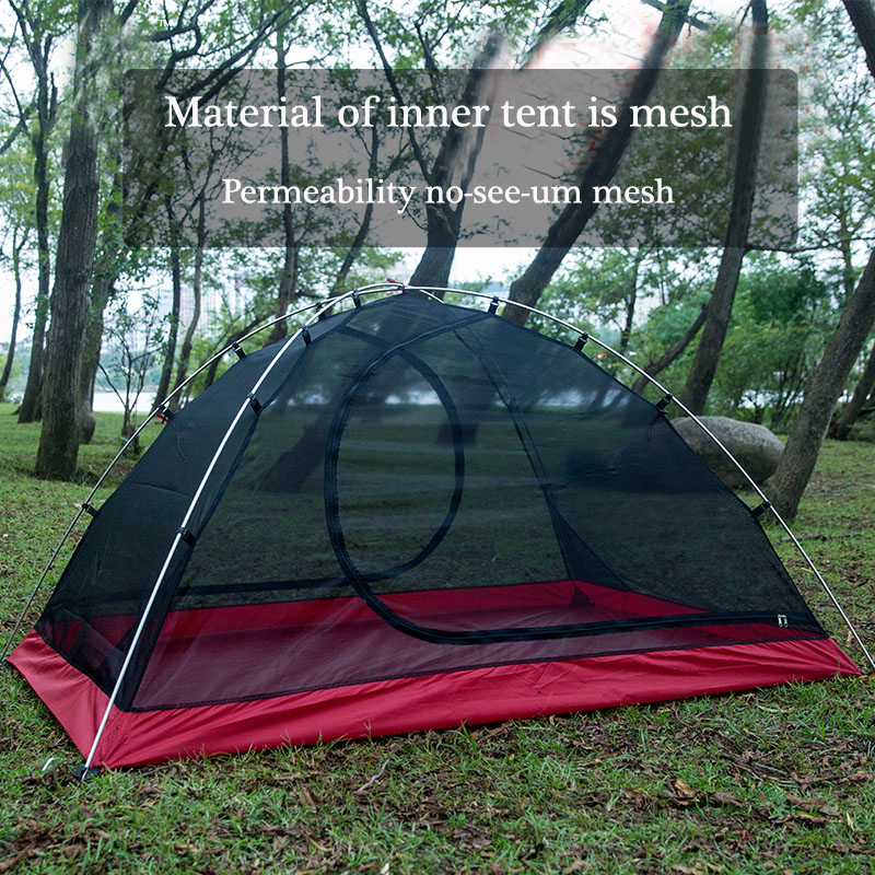Waterproof Camping Tent For Heavy Rain15D Silicon Plaster Cloth No-see-um Mesh Beach Tent Permeability Camping Tents Equipment 4